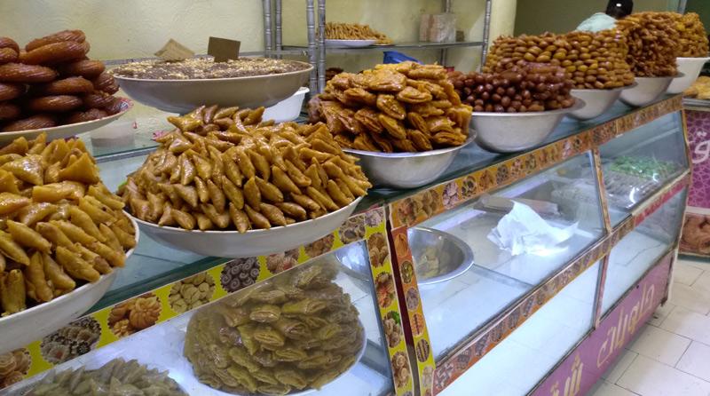 Pasteles árabes en Meknes