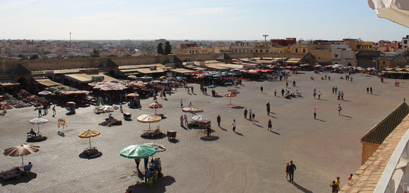 Plaza Lahdim en Meknes