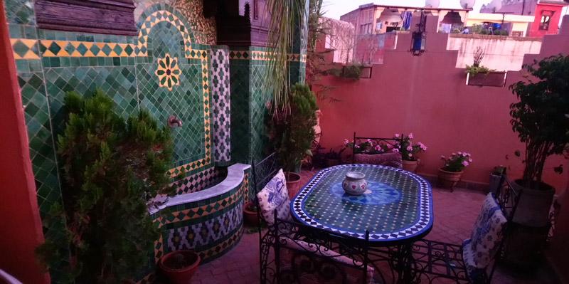 Azotea Riad Benchekroun en Meknes