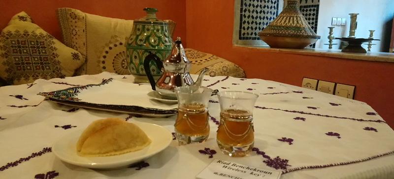 Tomar el té en Meknes