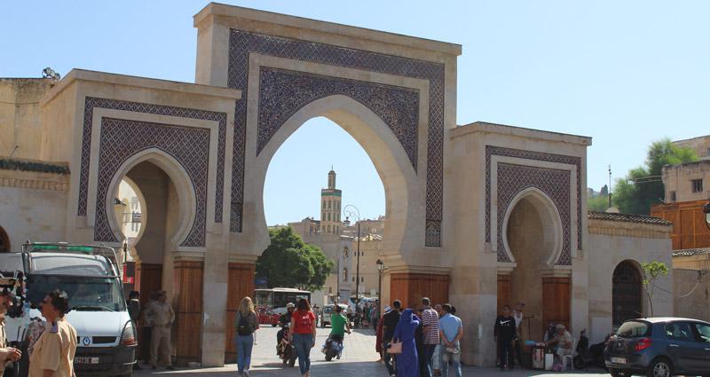 Puerta Bab R'Cif en Fez