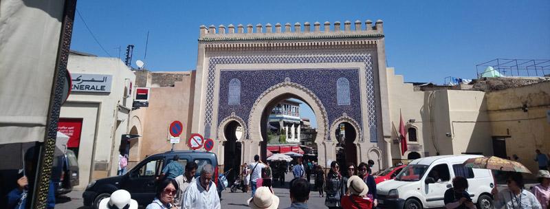 Puerta Bab Boujloud en Fez
