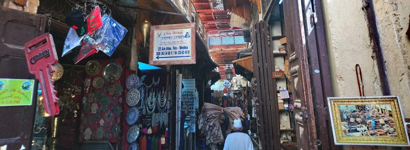 Zoco de Fez en Marruecos