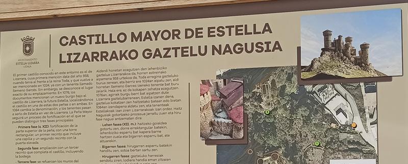 Ruinas del Castillo de Zalatambor en Estella