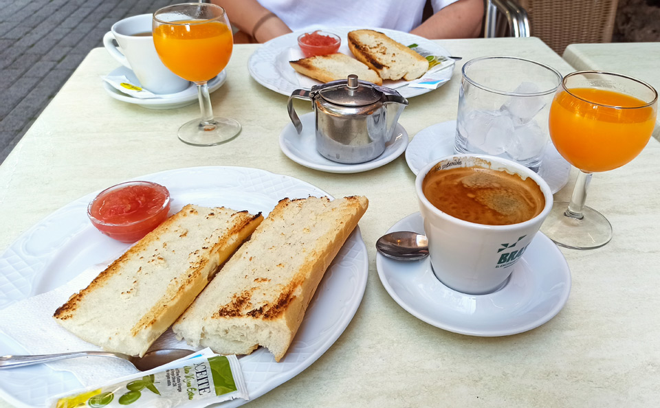 Desayunar en Horche