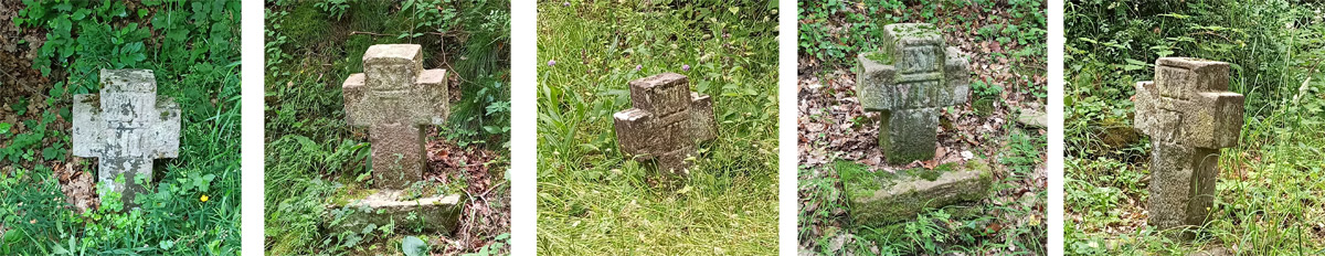 Cruces de la Ermita de la Blanca en Jaurrieta