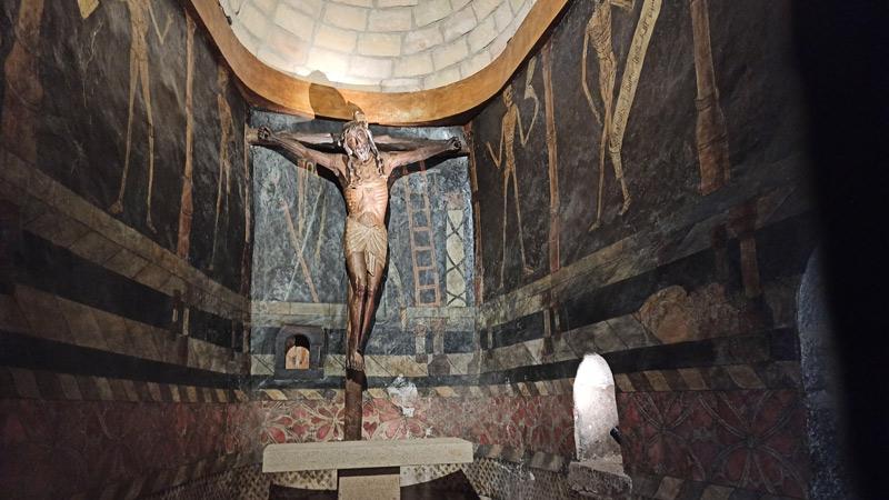 Cristo de la Sonrisa en el Castillo de Javier