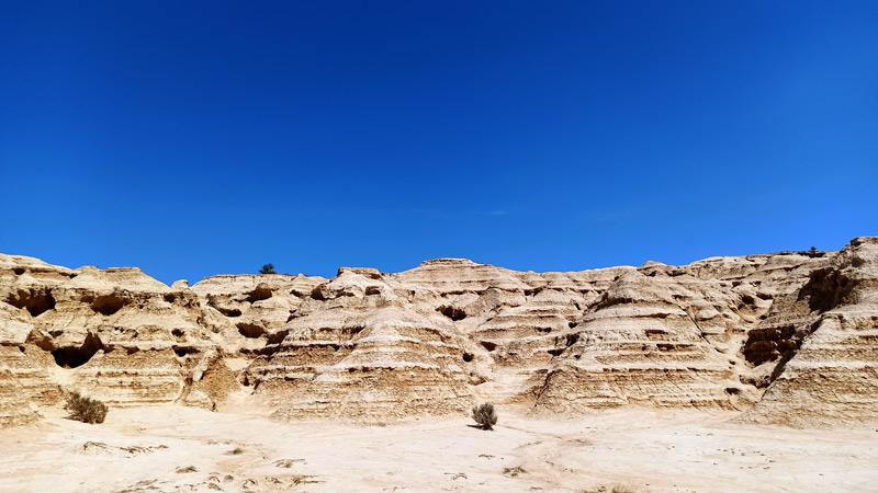 Rocas de las Bardenas Reales en Navarra